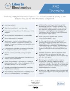 RFQ Checklist FINAL Image 233x300 | RFQ Checklist, Liberty Electronics®